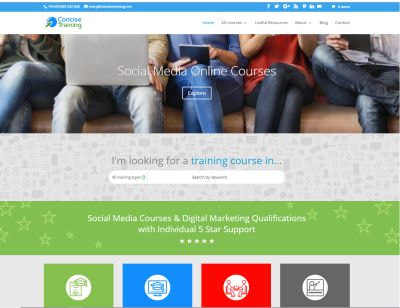 Concise Training website